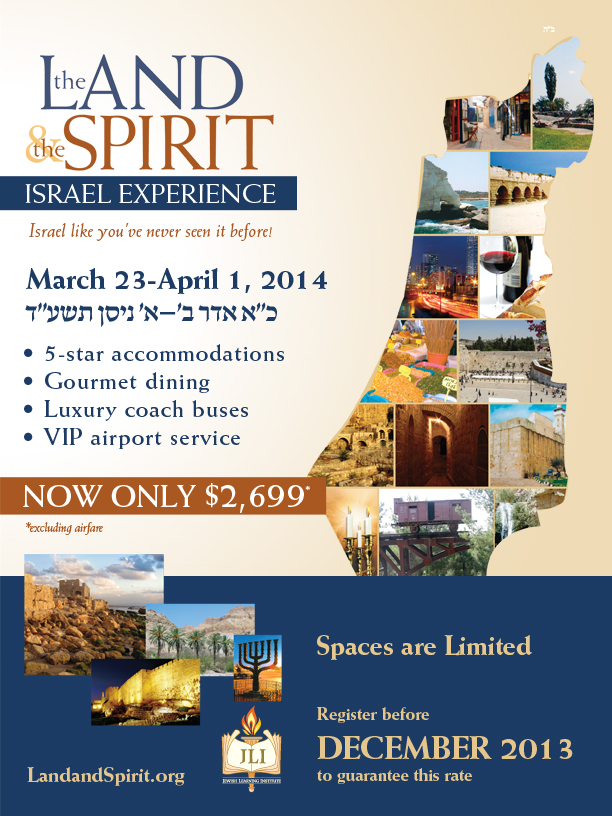 The Land and The Spirit - Mission to Israel - Register Today